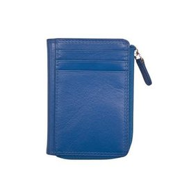 Leather Handbags and Accessories 7411 Cobalt - RFID CC ID Holder