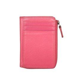 Leather Handbags and Accessories 7411 Hot Pink - RFID CC ID Holder