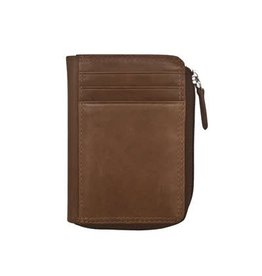 Leather Handbags and Accessories 7411 Toffee - RFID CC ID Holder