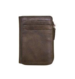 Leather Handbags and Accessories 7411 Walnut - RFID CC ID Holder