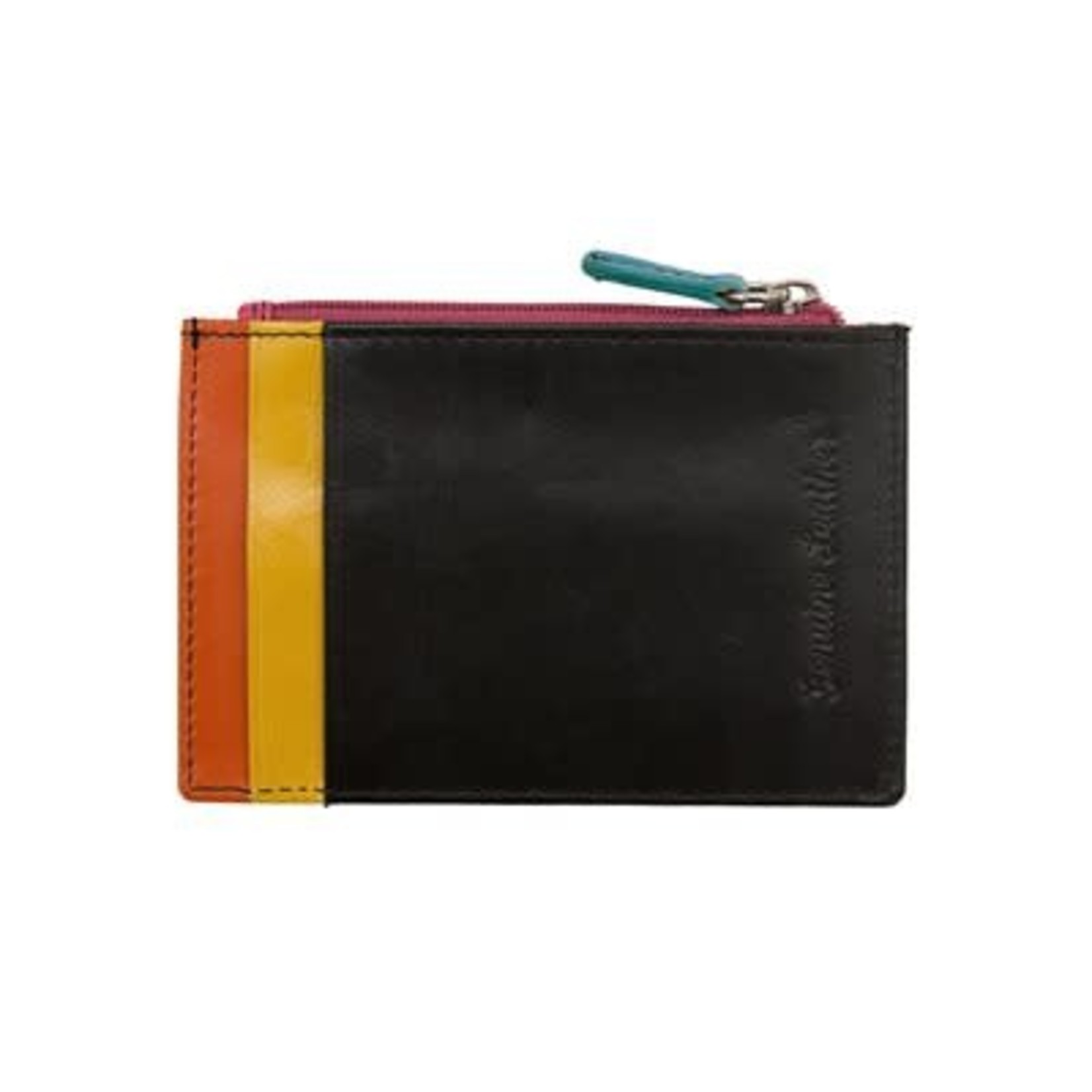 Leather Handbags and Accessories 7416 Black Brights - RFID Card Holder