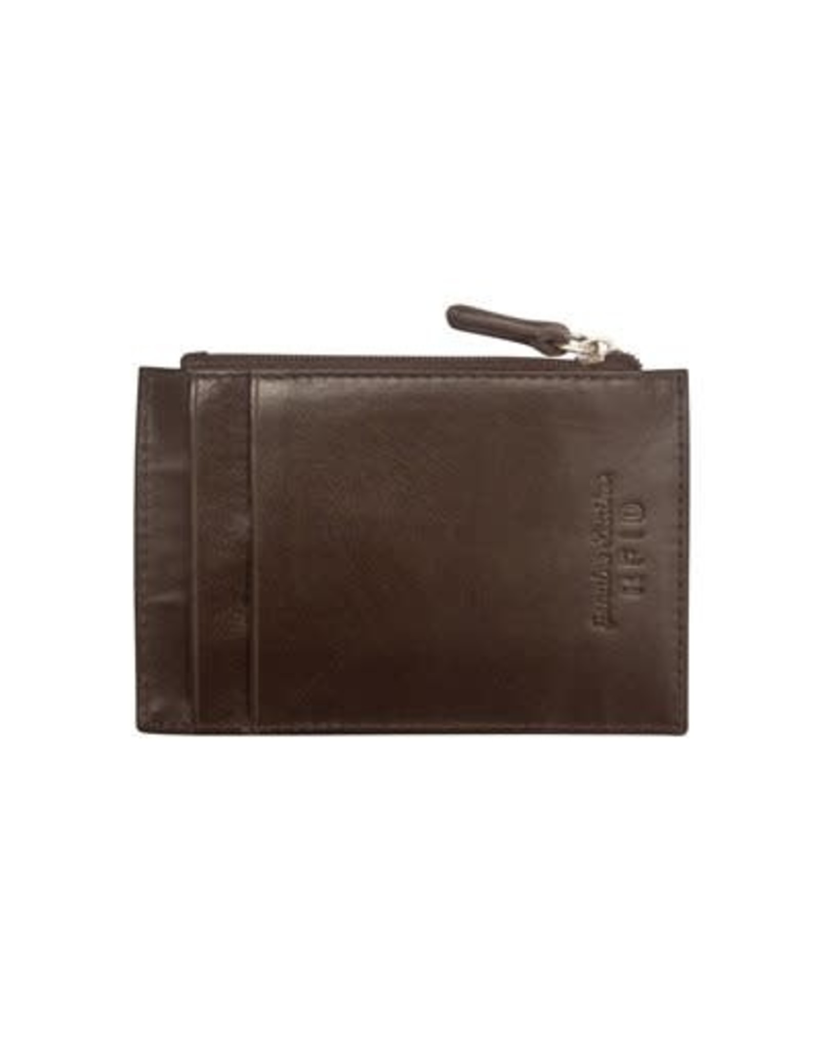 Leather Handbags and Accessories 7416 Brown - RFID Card Holder