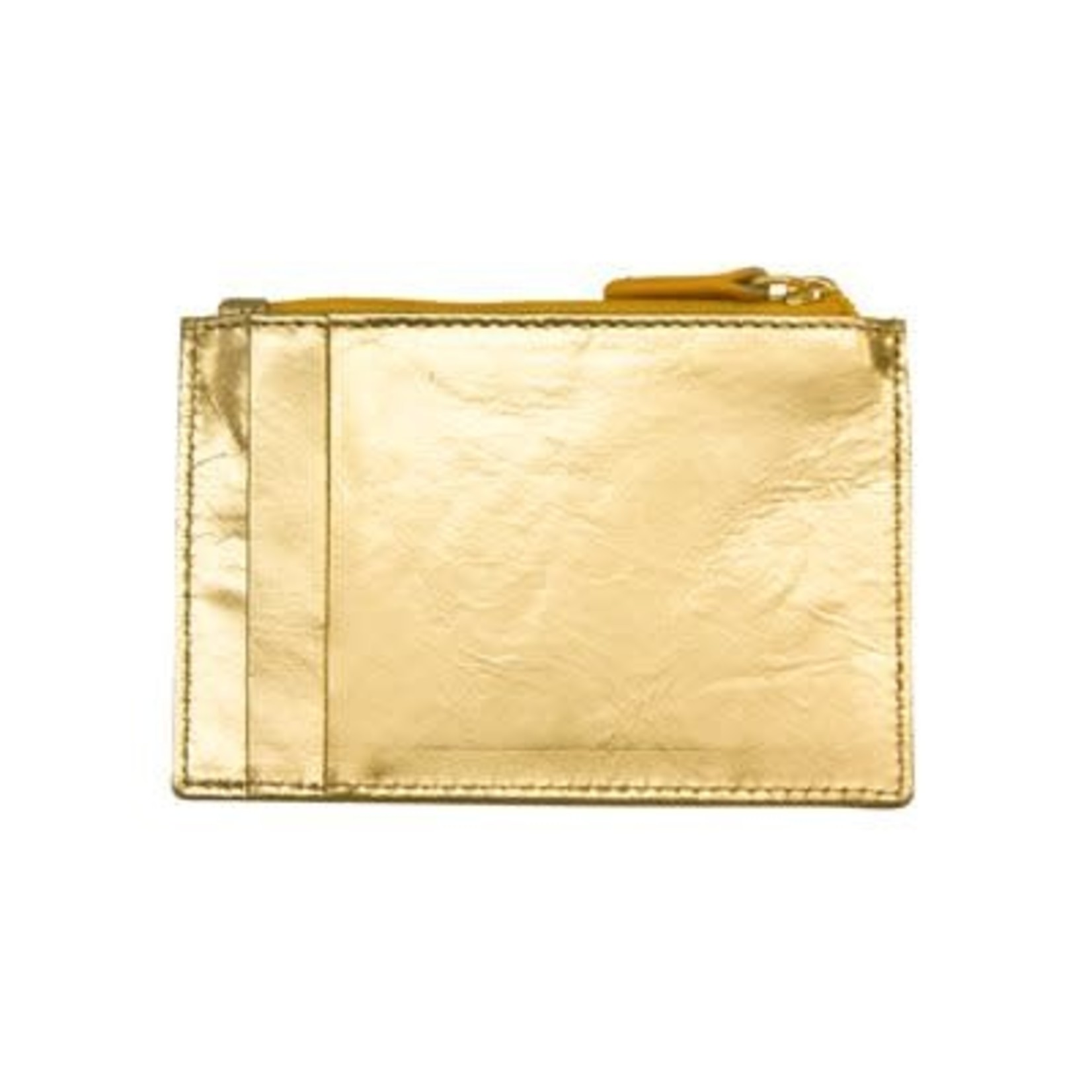 Leather Handbags and Accessories 7416 Gold - RFID Card Holder