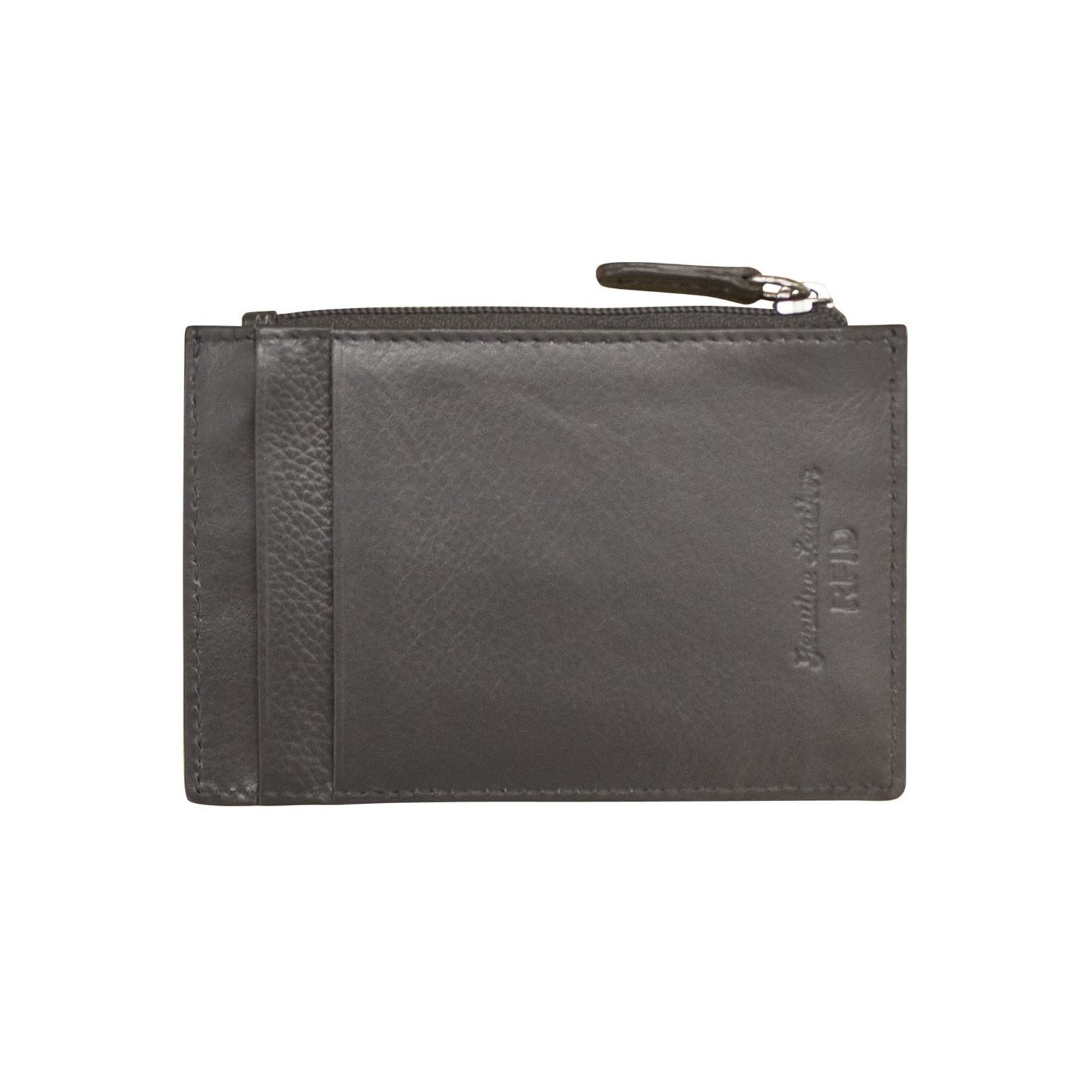 Leather Handbags and Accessories 7416 Gray - RFID Card Holder