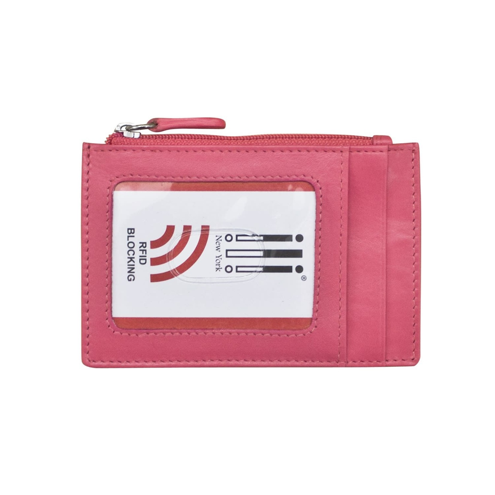 Leather Handbags and Accessories 7416 Hot Pink - RFID Card Holder
