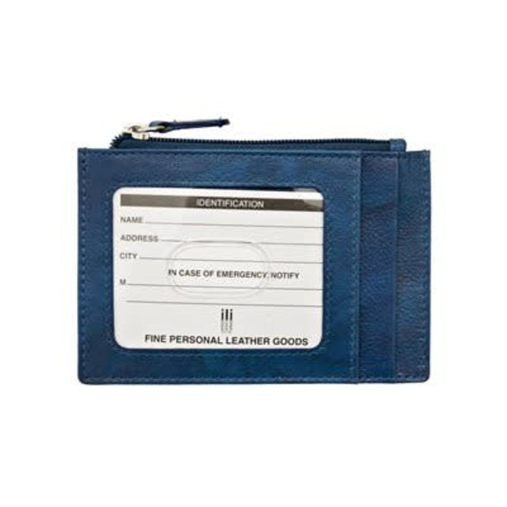Leather Handbags and Accessories 7416 Jeans Blue - RFID Card Holder