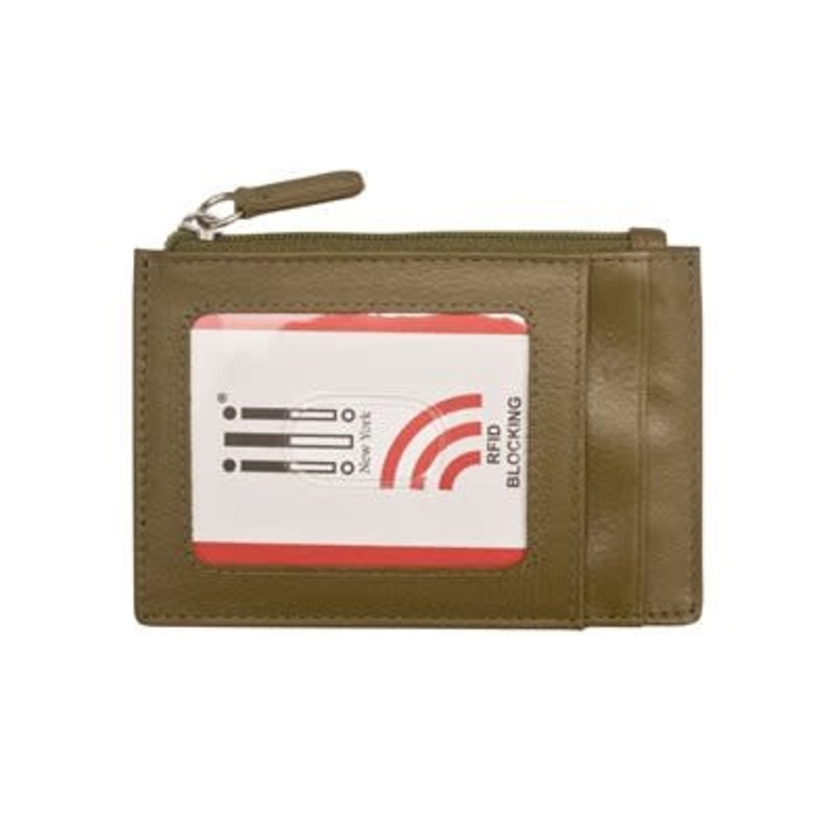 Leather Handbags and Accessories 7416 Olive - RFID Card Holder