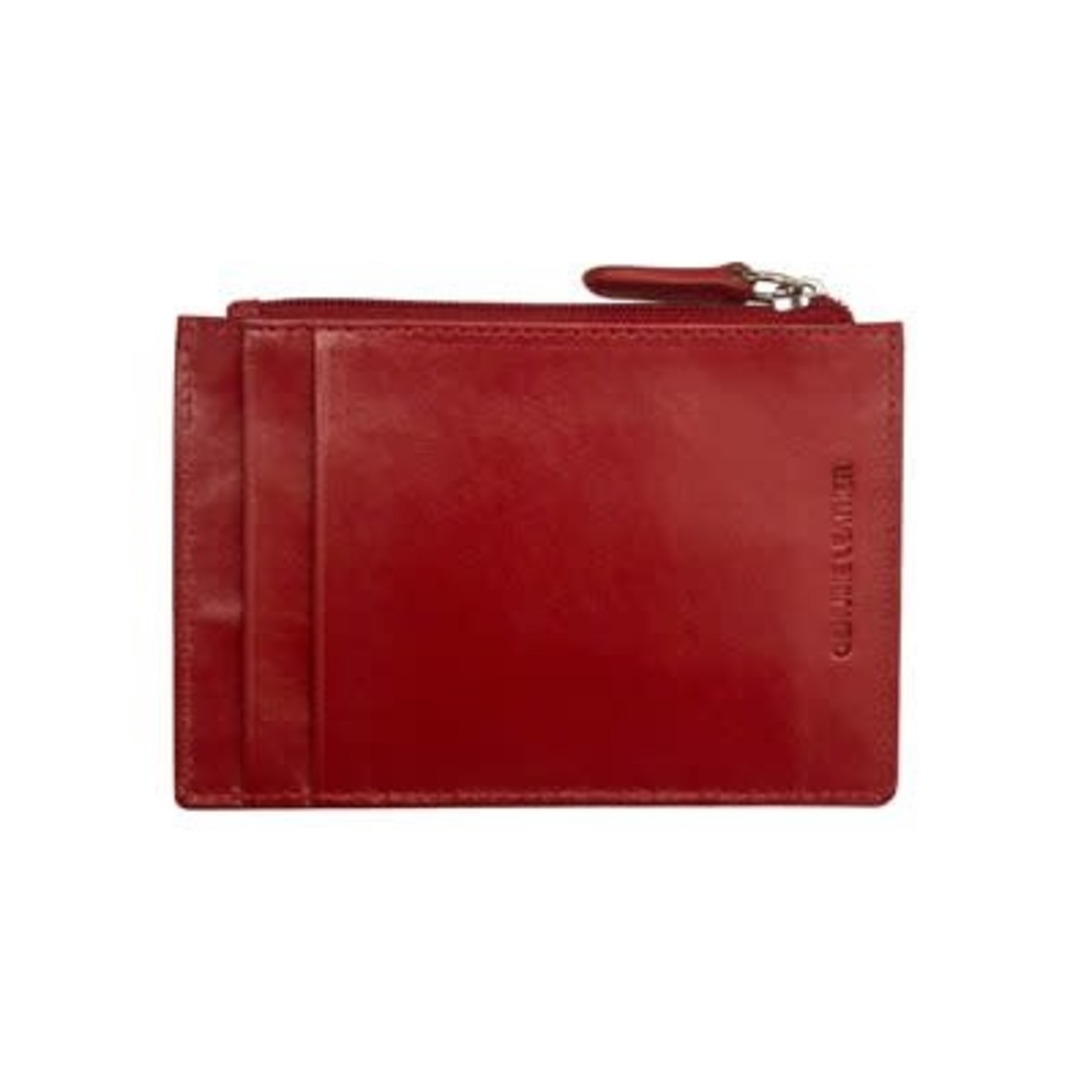 Leather Handbags and Accessories 7416 Red - RFID Card Holder