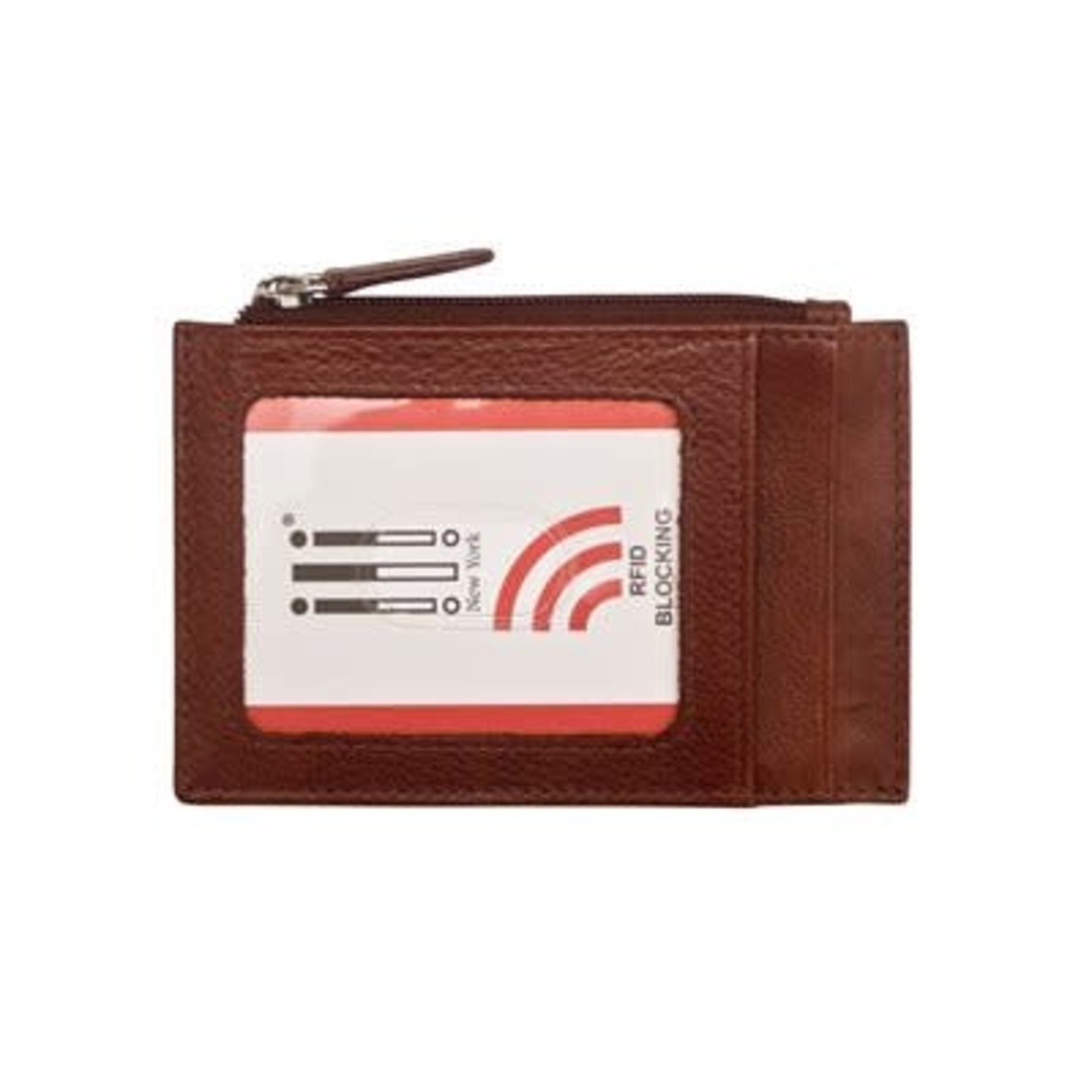 Leather Handbags and Accessories 7416 Redwood - RFID Card Holder