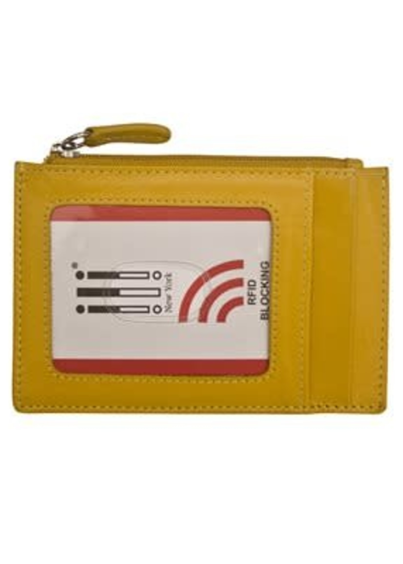 Leather Handbags and Accessories 7416 Yellow - RFID Card Holder