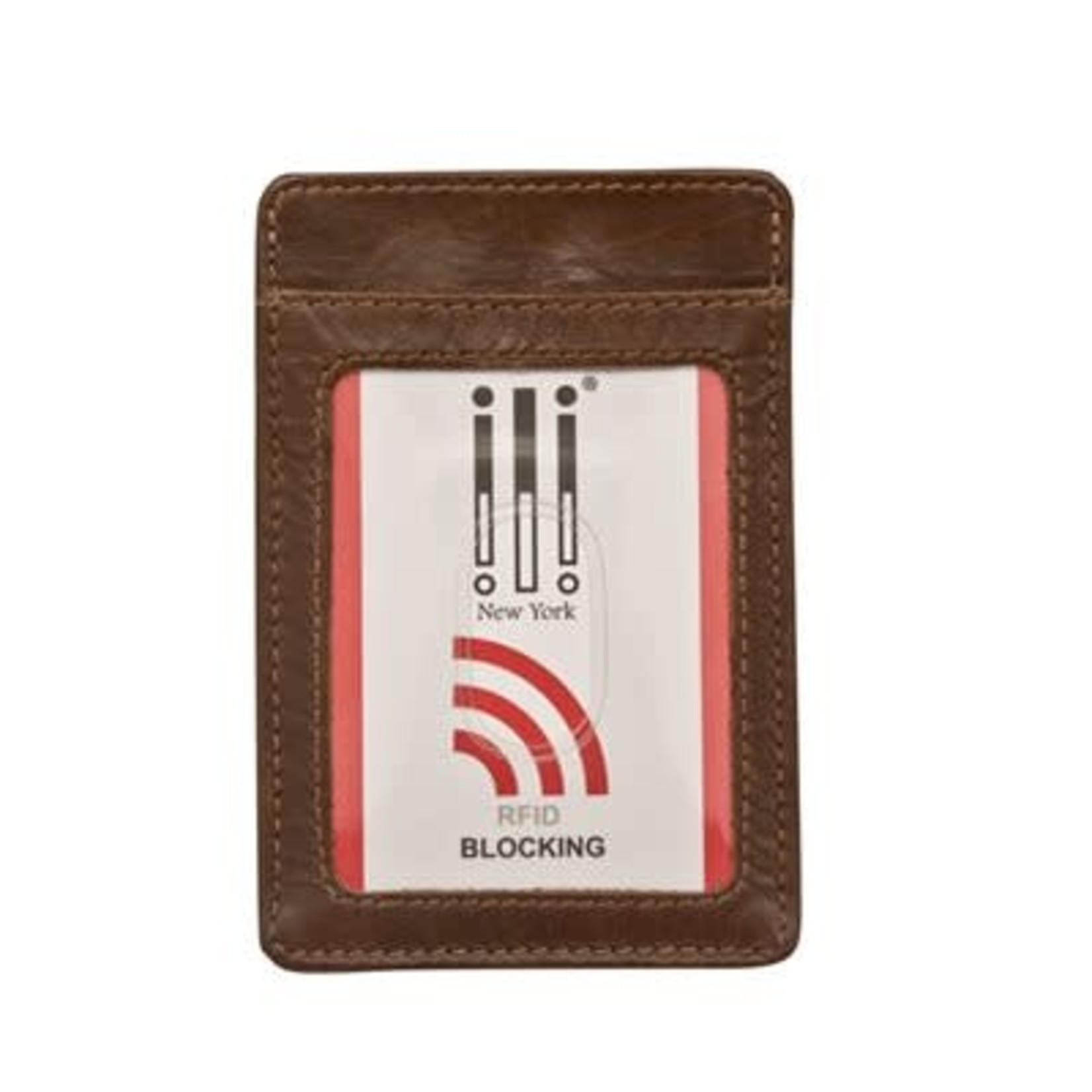 Leather Handbags and Accessories 7717 Toffee - RFID Money Clip Card Holder