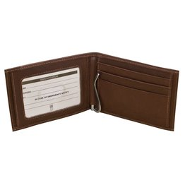 Leather Handbags and Accessories 7719 Toffee - RFID Money Clip Wallet