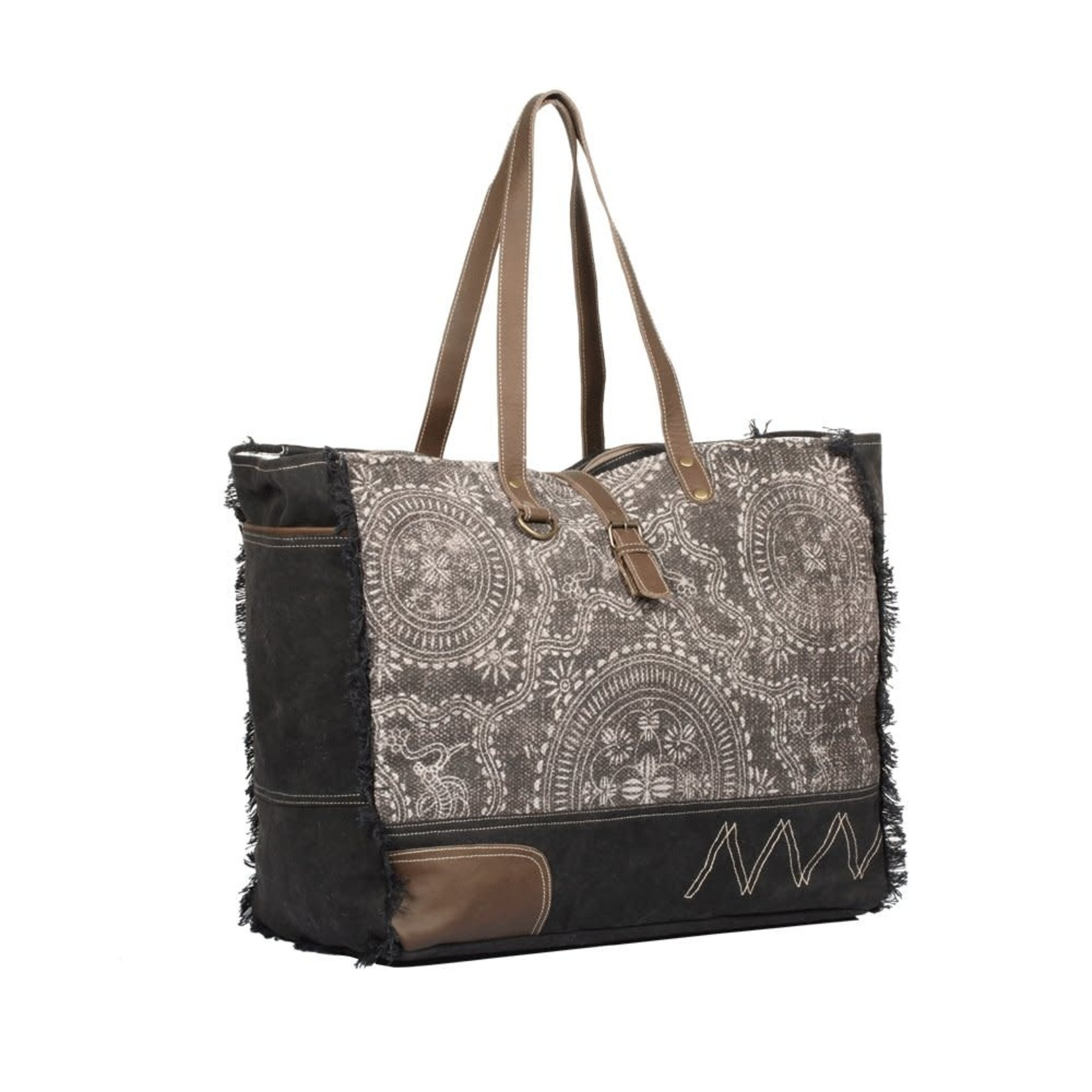 Myra Bags S-1329 Gleam Floral Weekender Bag