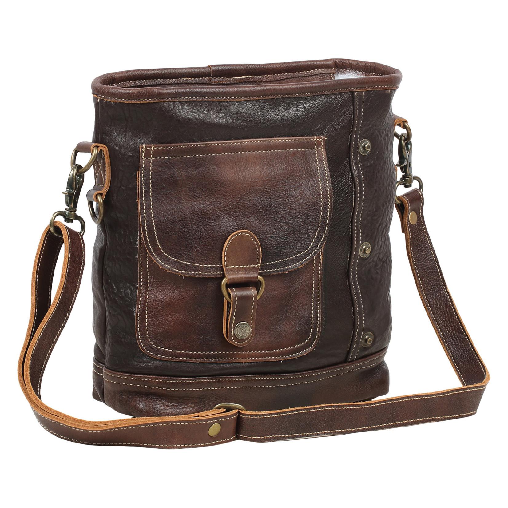 Myra Bags S-1560  Leather Rocky Shoulder Bag