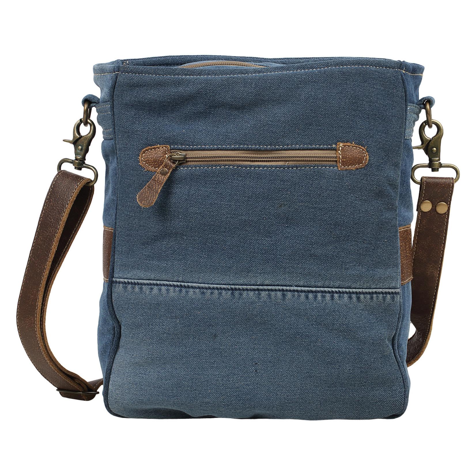 Myra Bags S-1570 1955 Vintage Denim Shoulder Bag
