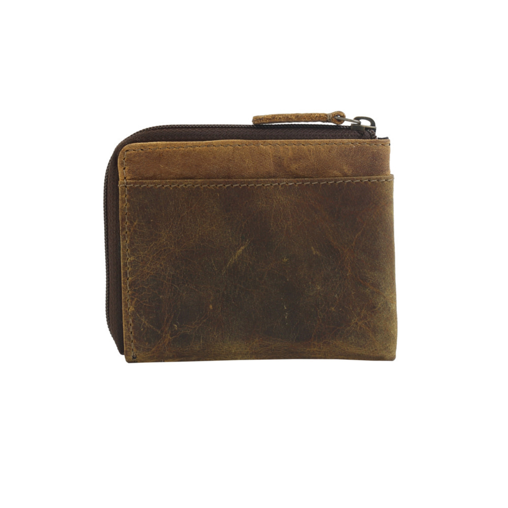 Myra Bags S-2711 Brown Glaze Leather Wallet