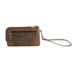 Myra Bags S-2696 Super Tan Leather Wallet/Wristlet