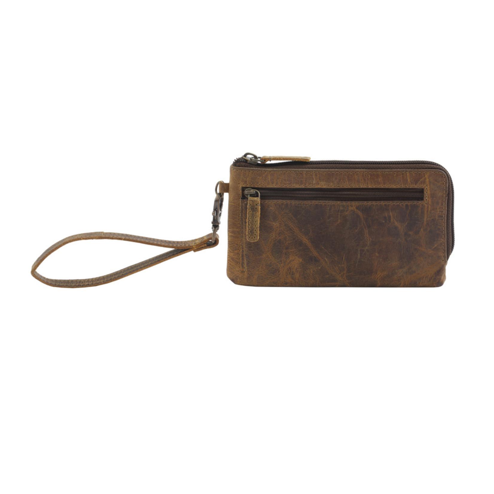 Myra Bags S-2696 Super Tan Leather Wallet/Wristlet