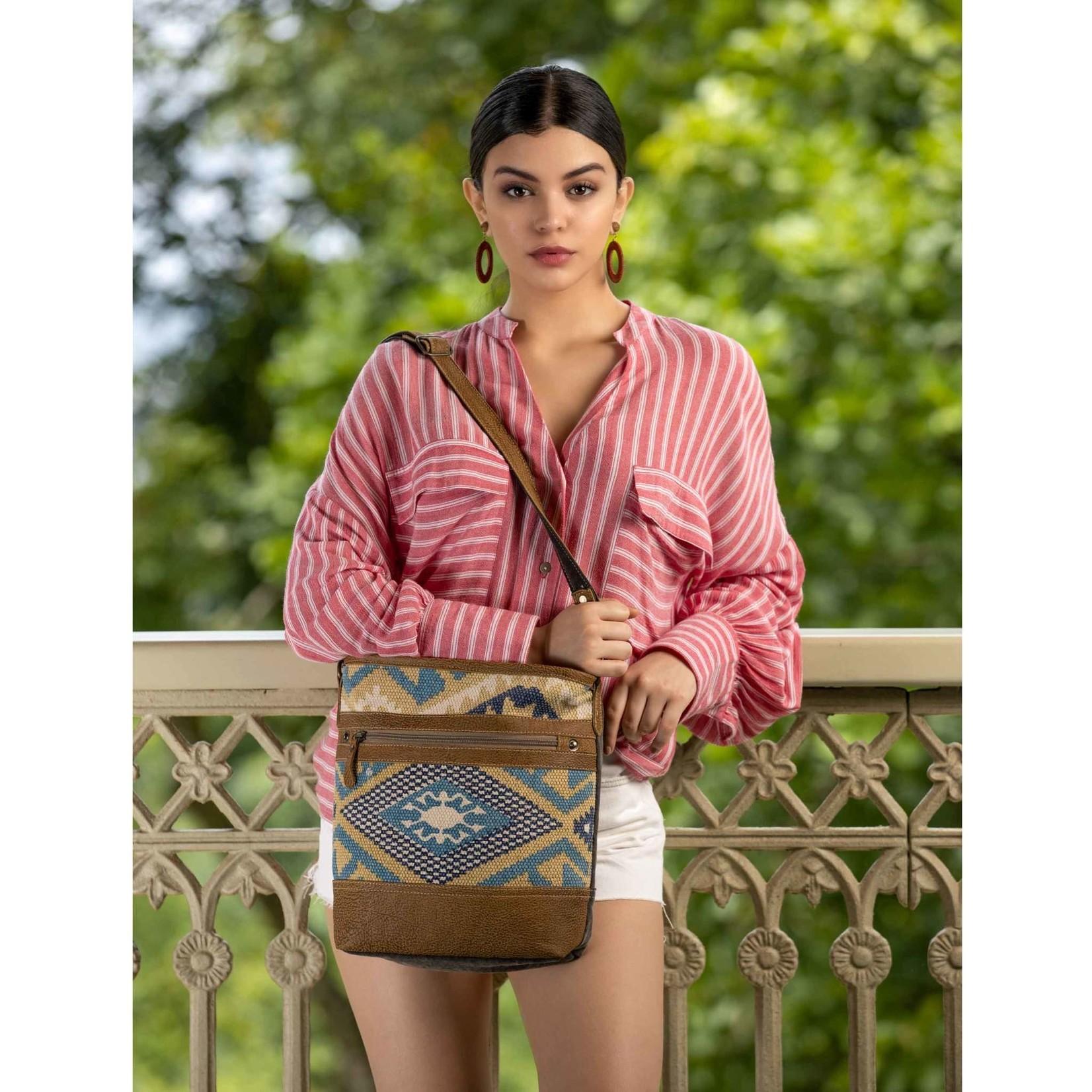 Myra Bags S-2551 Indigo Craft Shoulder Bag