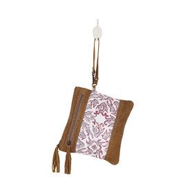 Myra Bags S-2547 Peach Blossoms Wristlet / Pouch