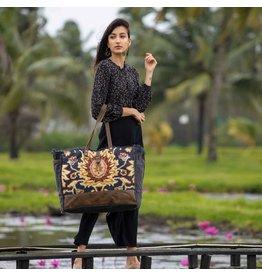 Myra Bags S-2531 Black Fern Weekender Bag
