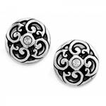 Brighton J20822 Betsey Mini Post Earrings - Silver/Stone