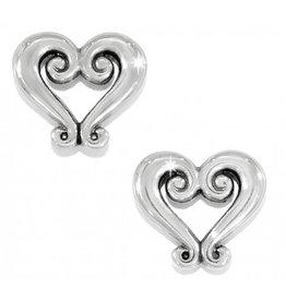 Brighton J21630 Genoa Heart Mini Post Earrings - Silver