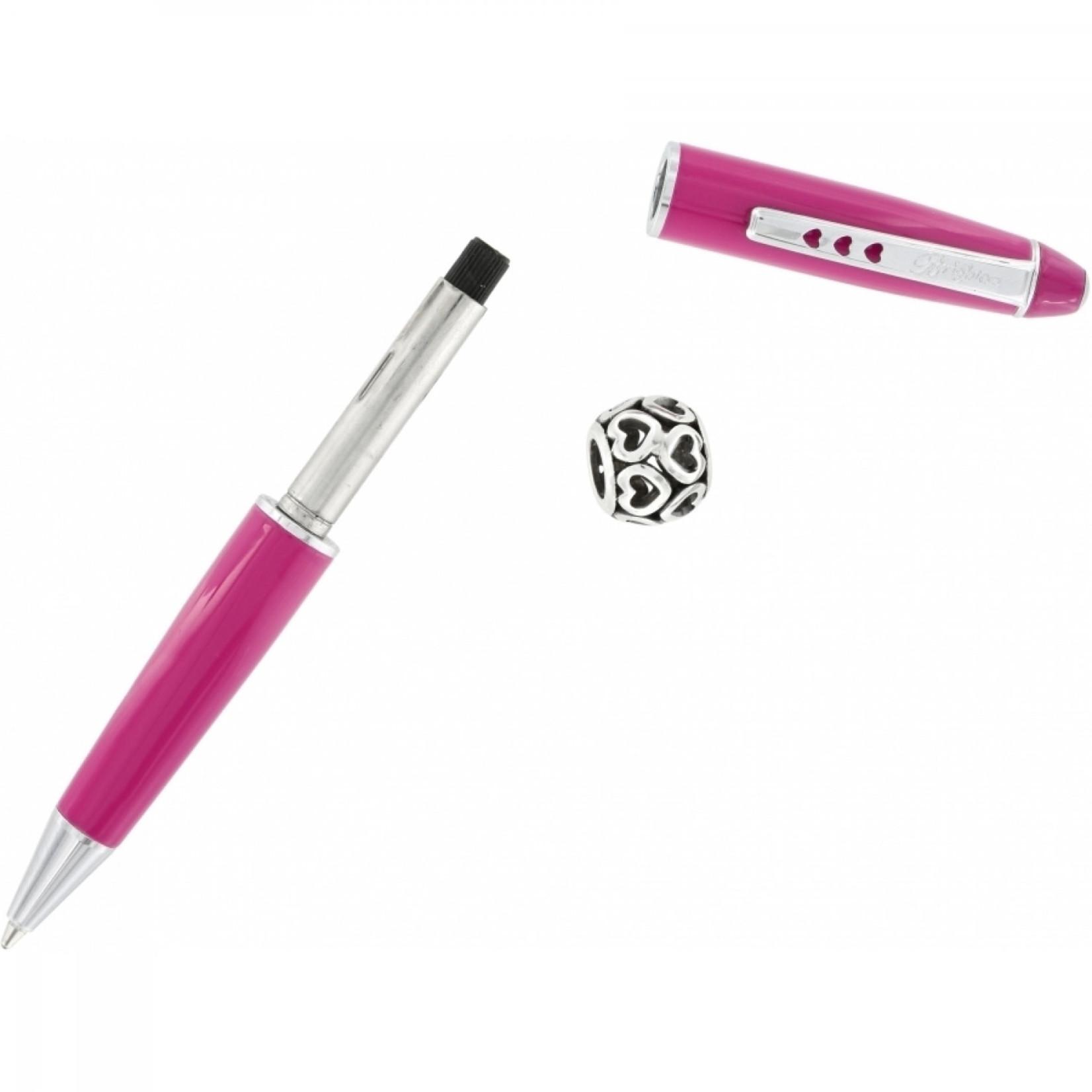 Brighton J97207 Pen Pal Short Charm Pen - Pink/Silver