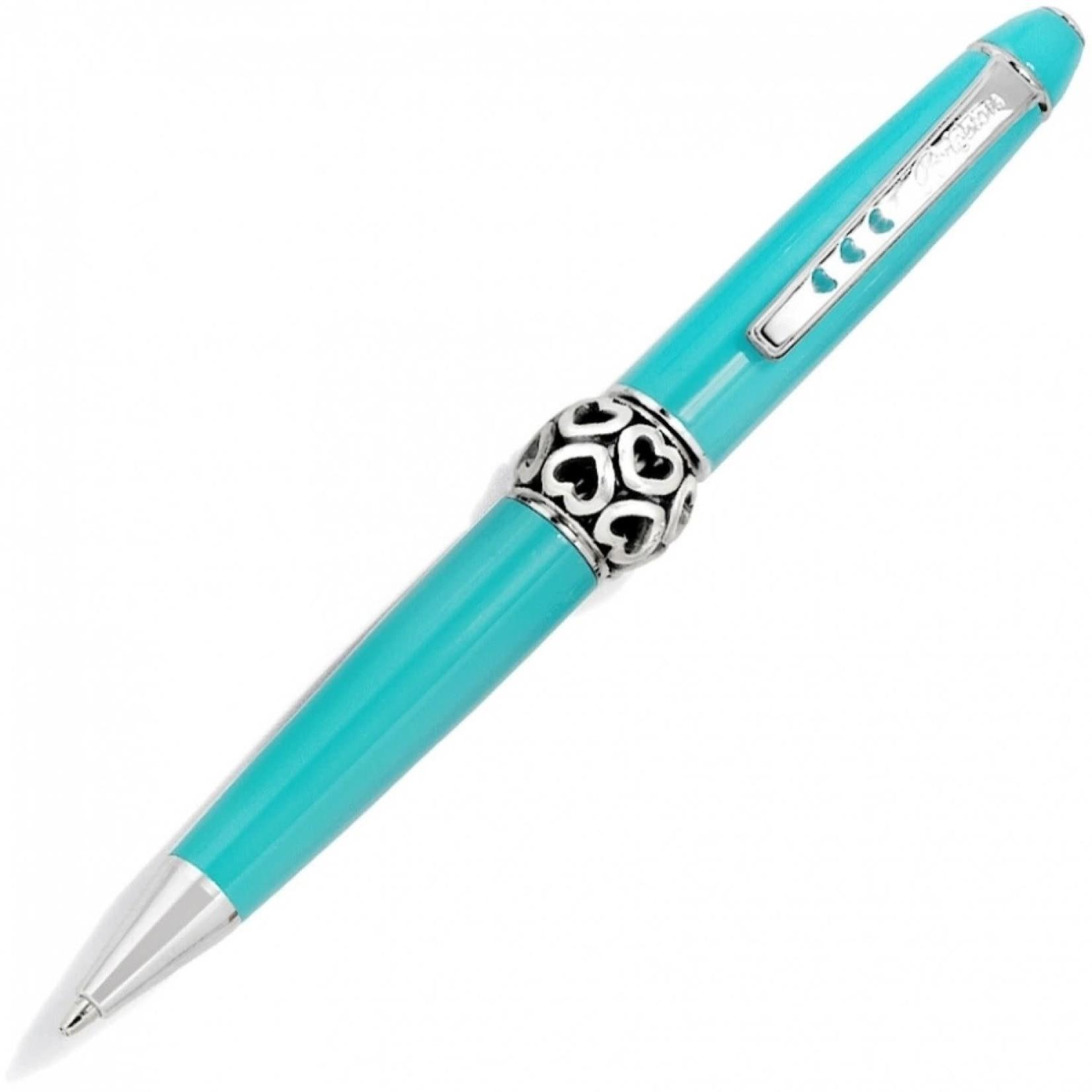 Brighton J9816A Pen Pal Short Charm Pen - Aqua/Silver