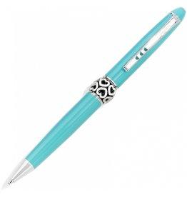 Brighton J9822A Pen Pal Long Charm Pen - Aqua/Silver