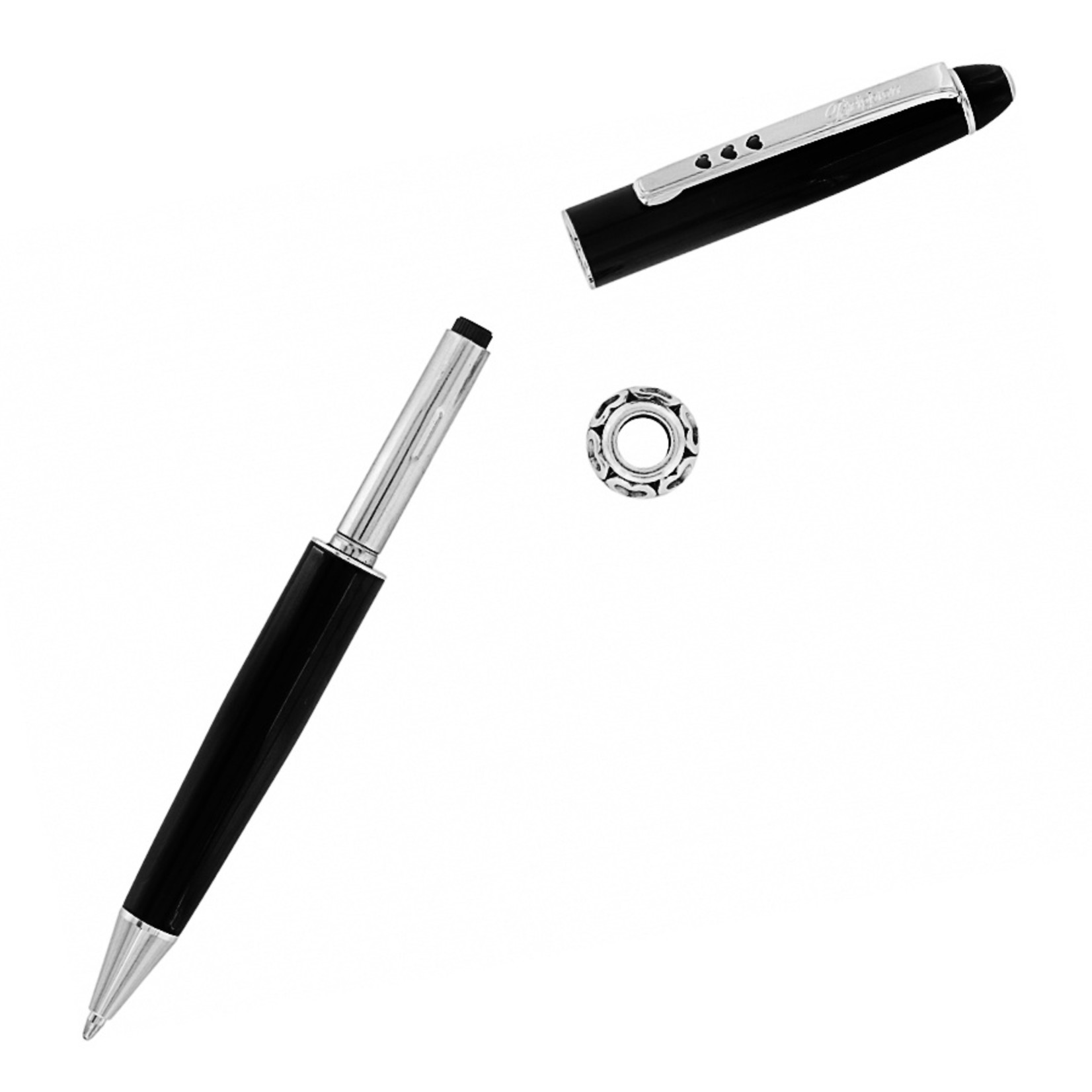 Brighton J98213 Pen Pal Long Charm Pen - Black/Silver