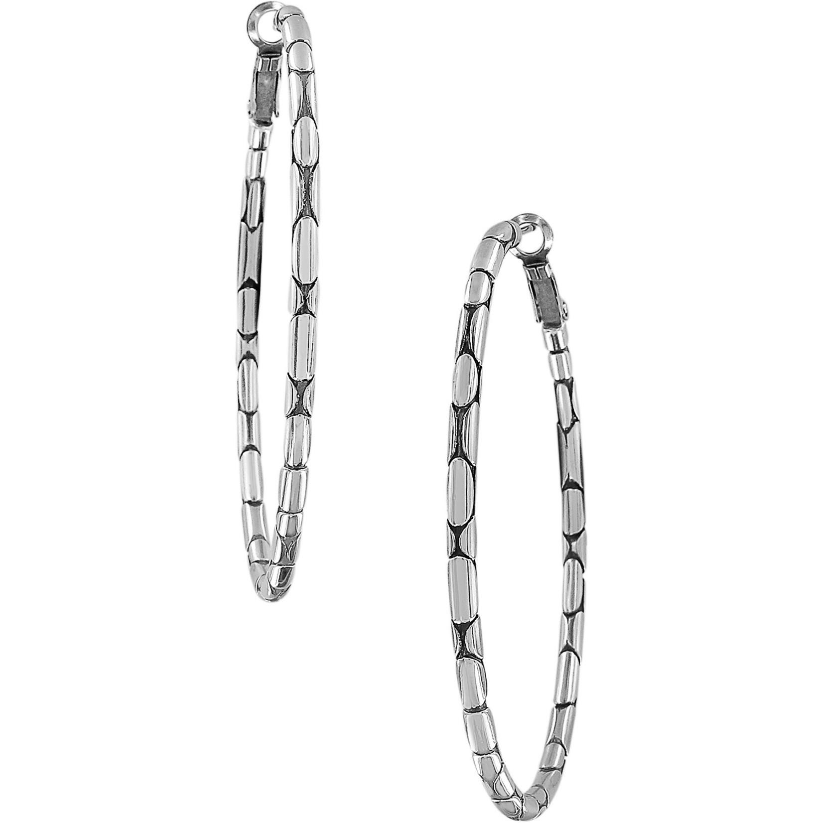 Brighton JA5400 Pebble Large Oval Hoop Earrings