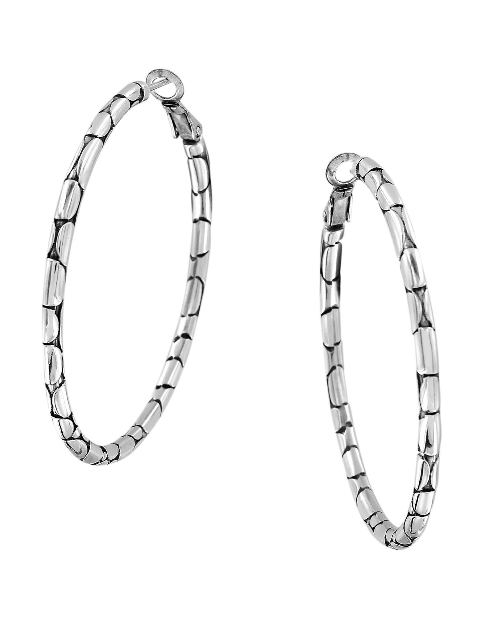 Brighton JA5410 Pebble Large Hoop Earrings