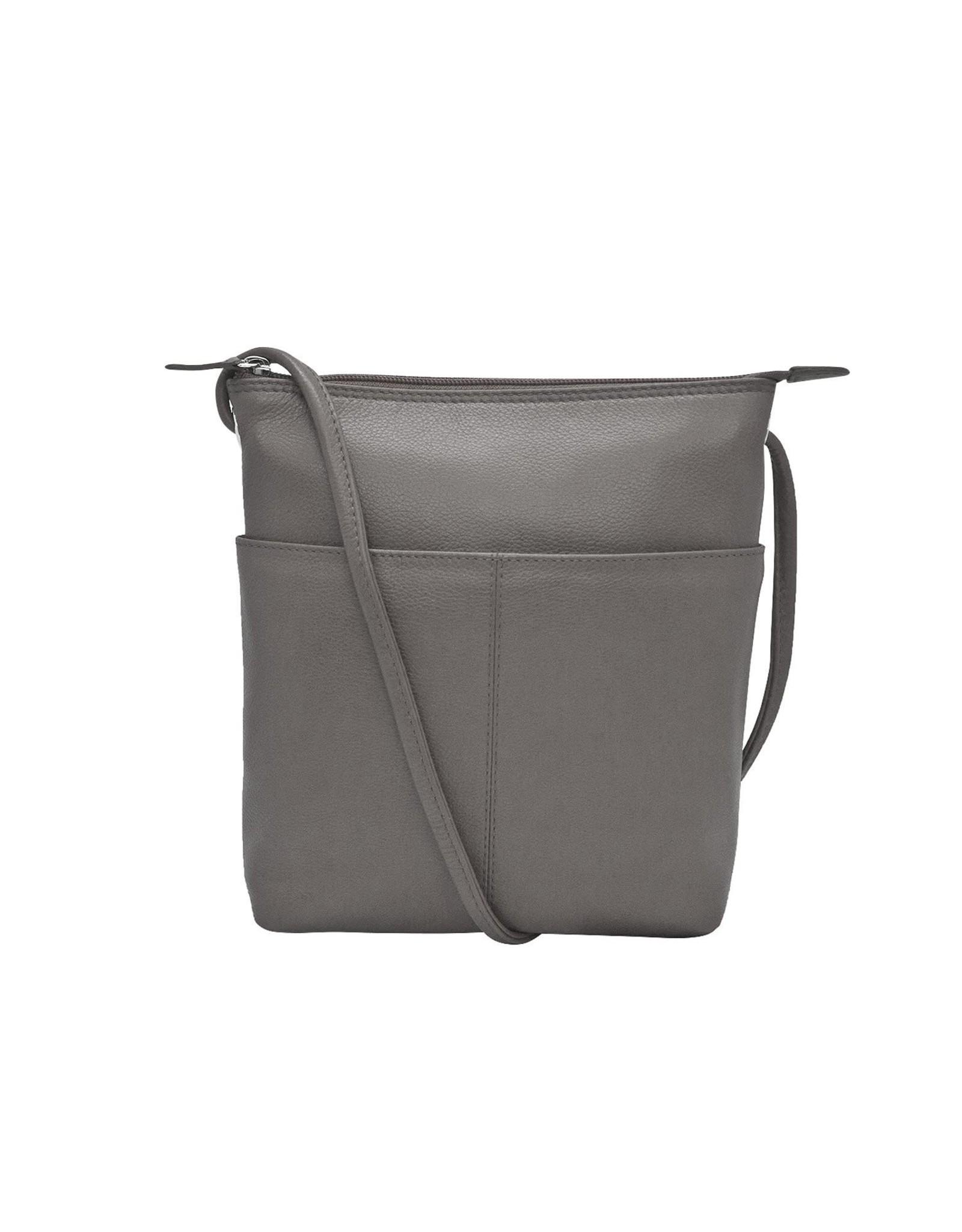 Leather Handbags and Accessories 6661 Gray - Midi Sac