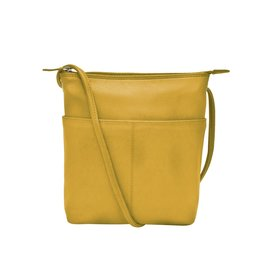 Leather Handbags and Accessories 6661 Yellow - Midi Sac