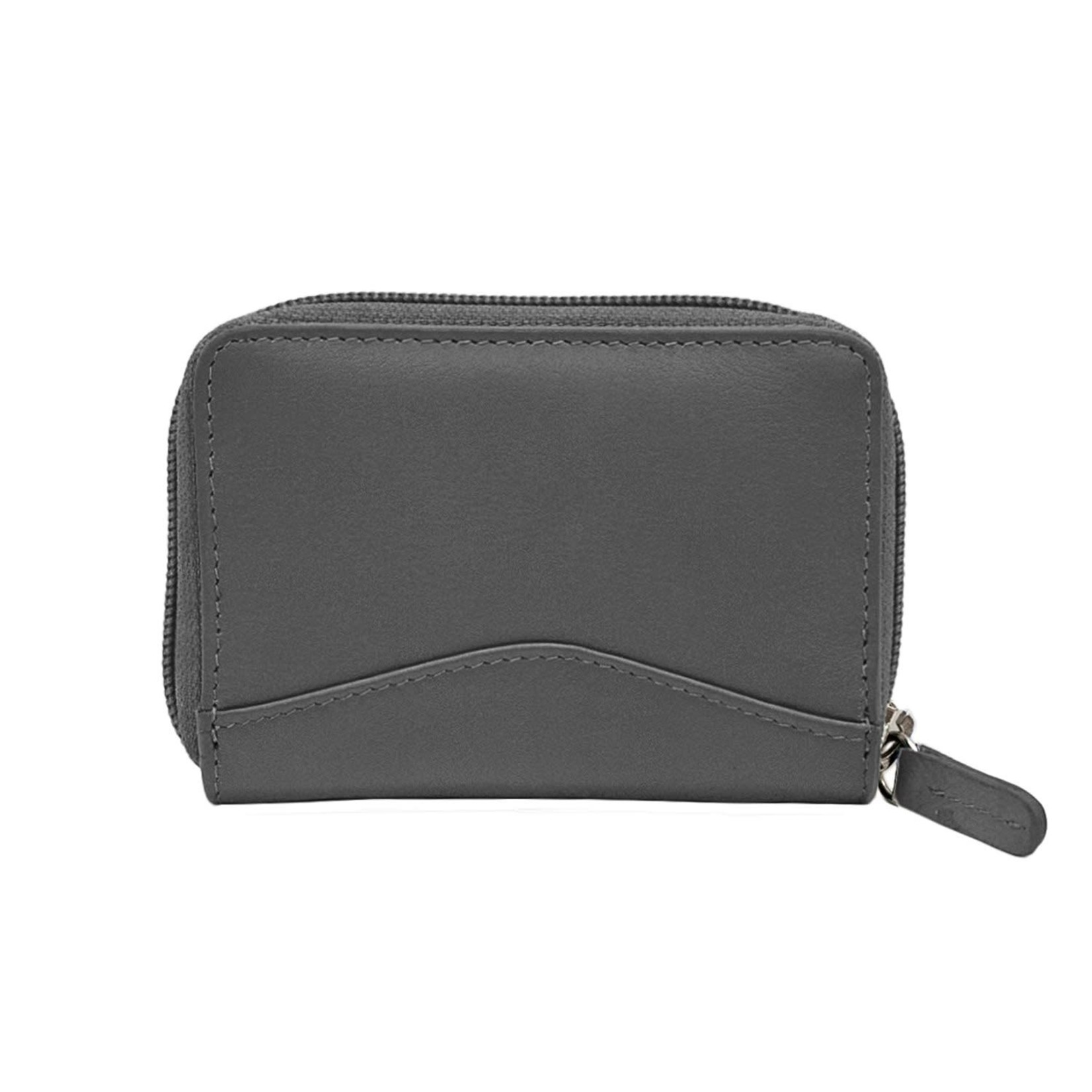 Leather Handbags and Accessories 6711 Gray - Accordion Card Holder