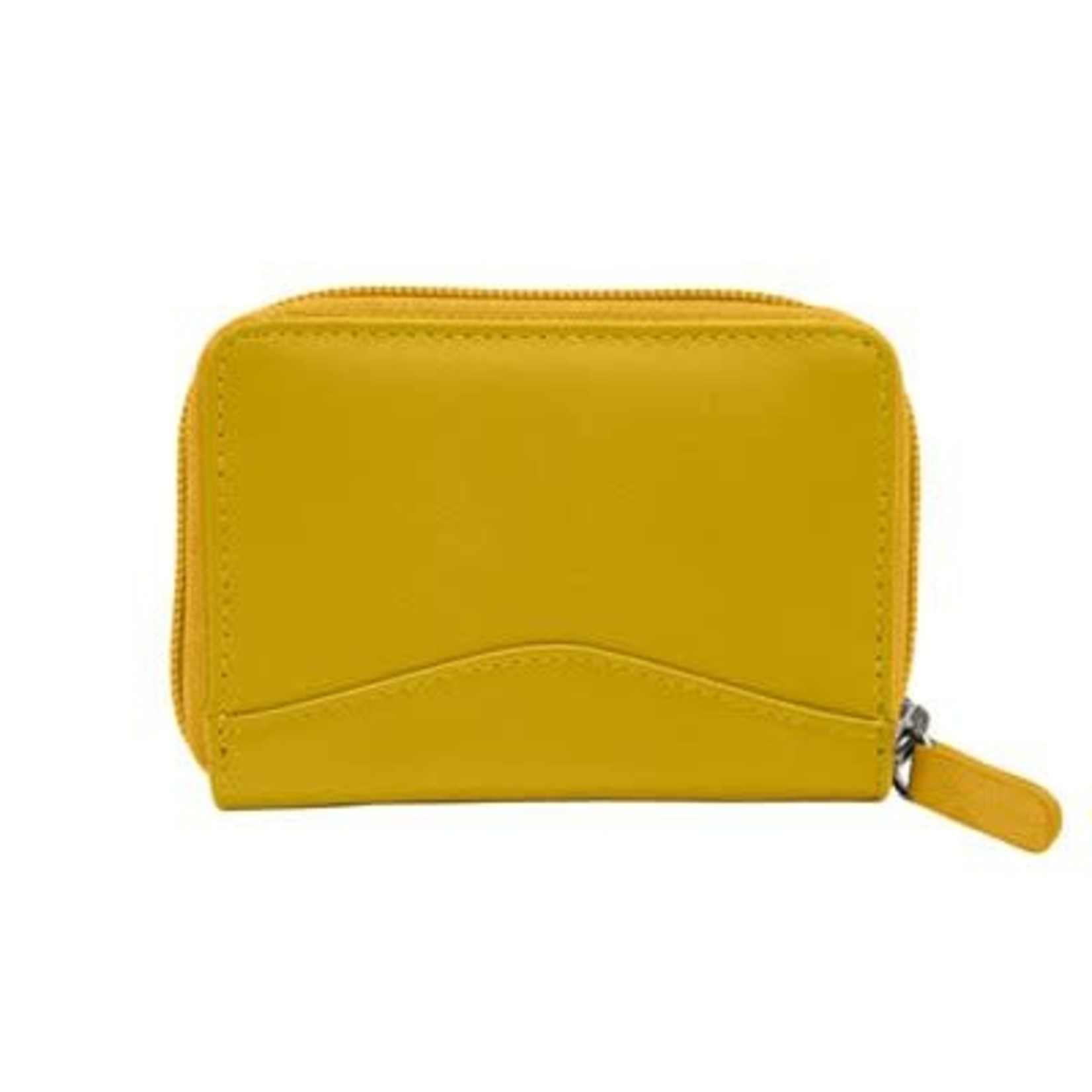 Leather Handbags and Accessories 6711 Yellow - Accordion Card Holder
