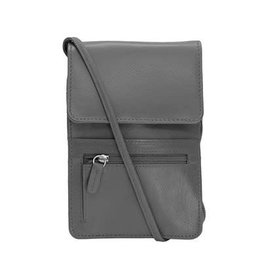 Leather Handbags and Accessories 6827 Gray - Small Organizer