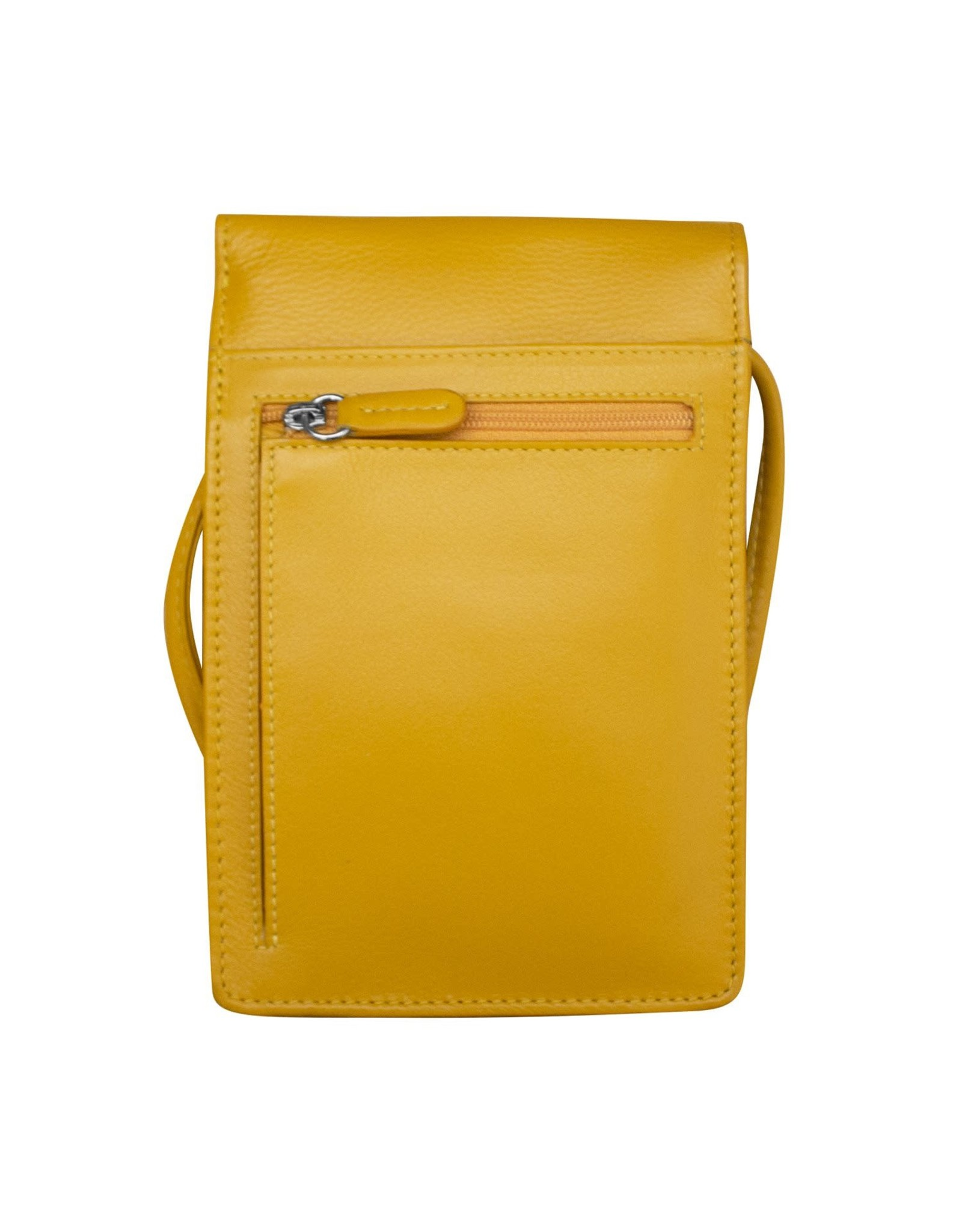 Leather Handbags and Accessories 6827 Yellow - Small Organizer