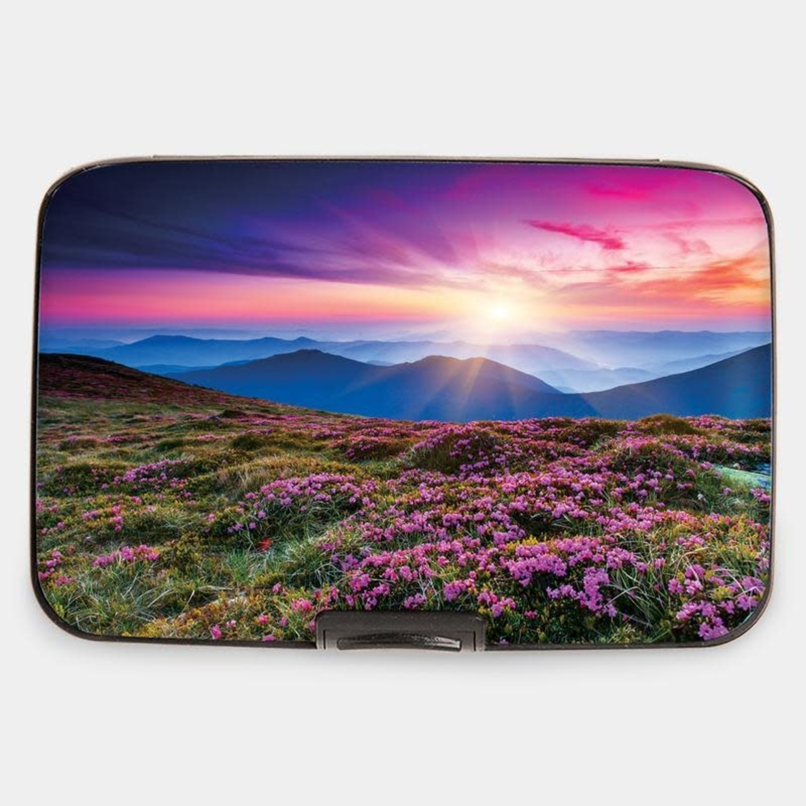 Monarque Armored Wallet - Sunset With Flowers