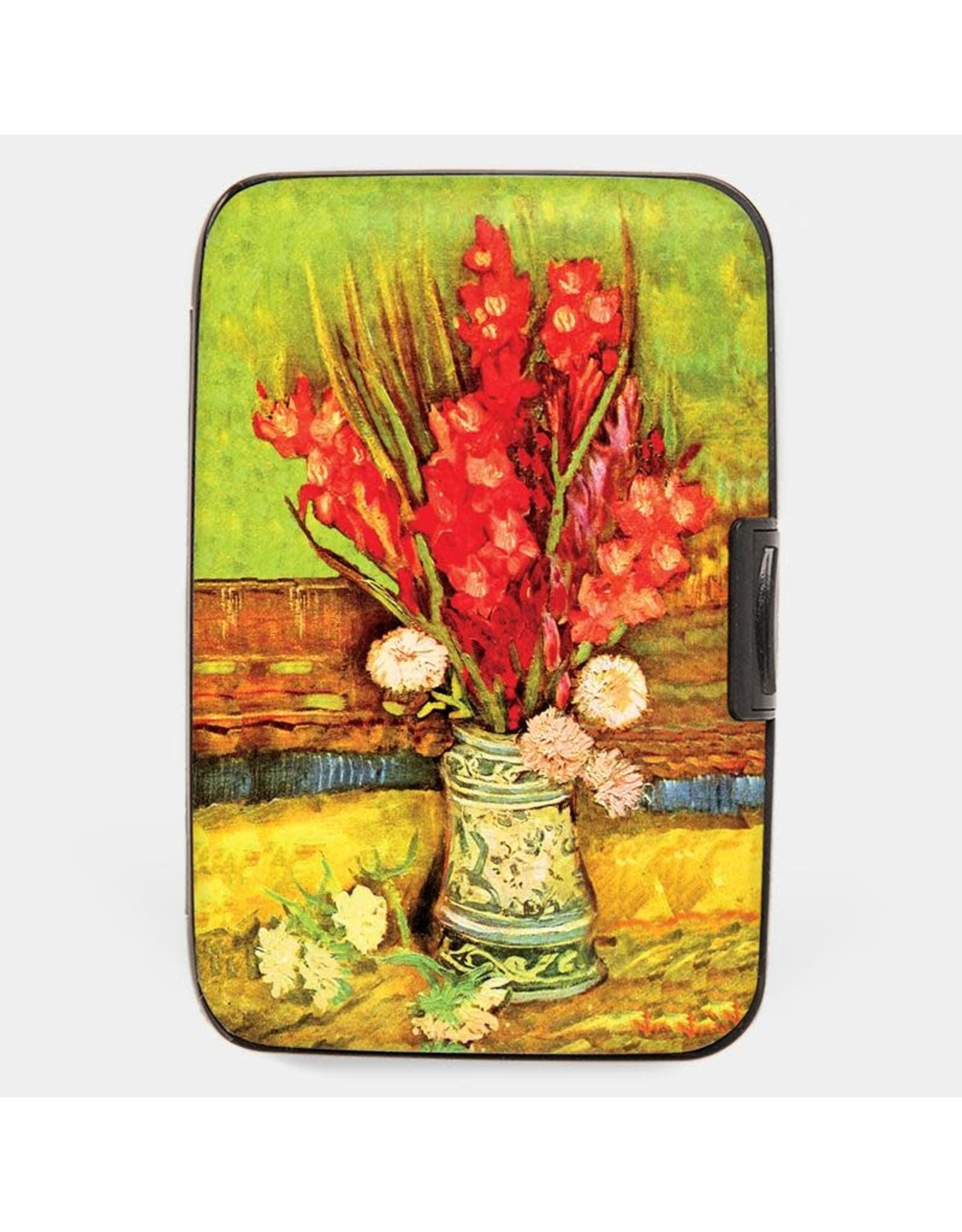 Monarque Armored Wallet - Van Gogh - Red Gladioli