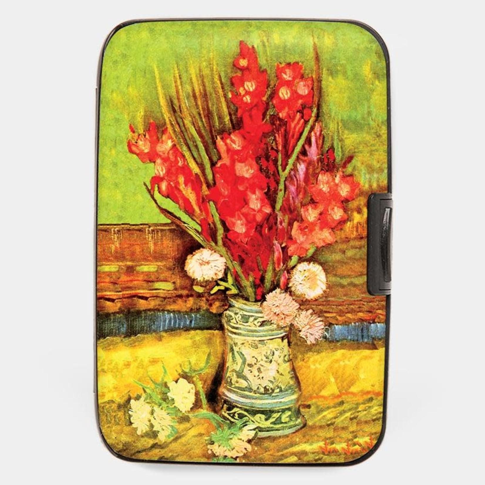 Monarque Armored Wallet - Van Gogh - Red Gladioli