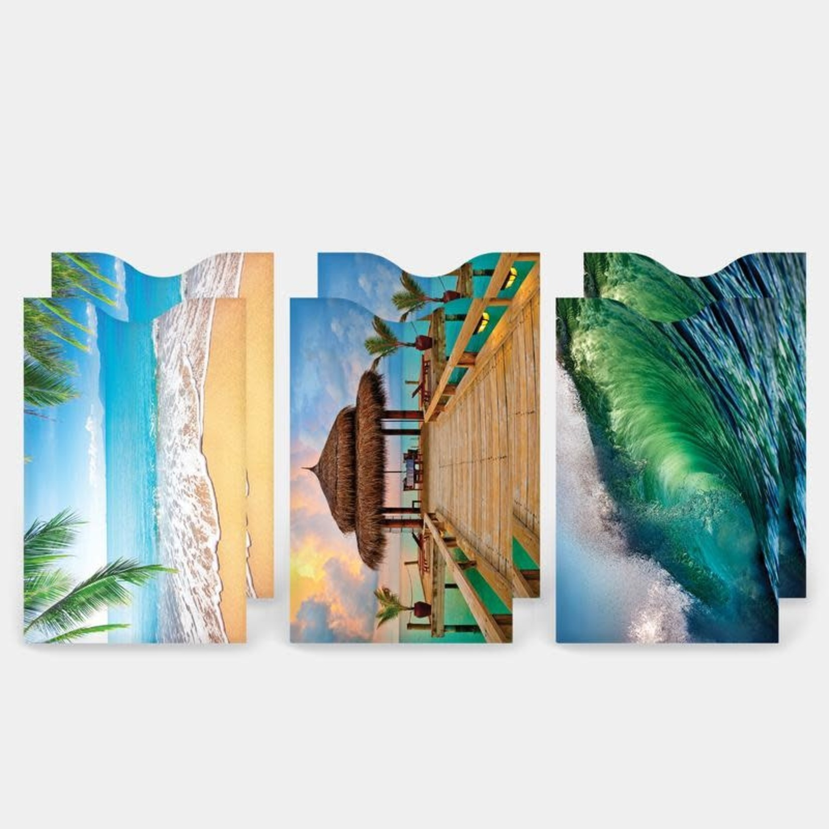 Monarque Set of 6 - Beaches Credit Card Sleeves