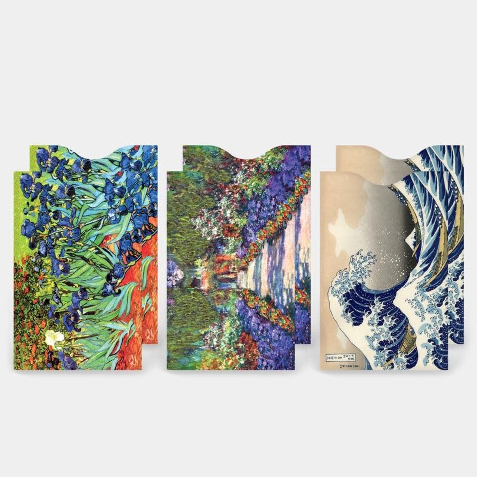 Monarque Set of 6 - Fine Art 3 Credit Card Sleeves
