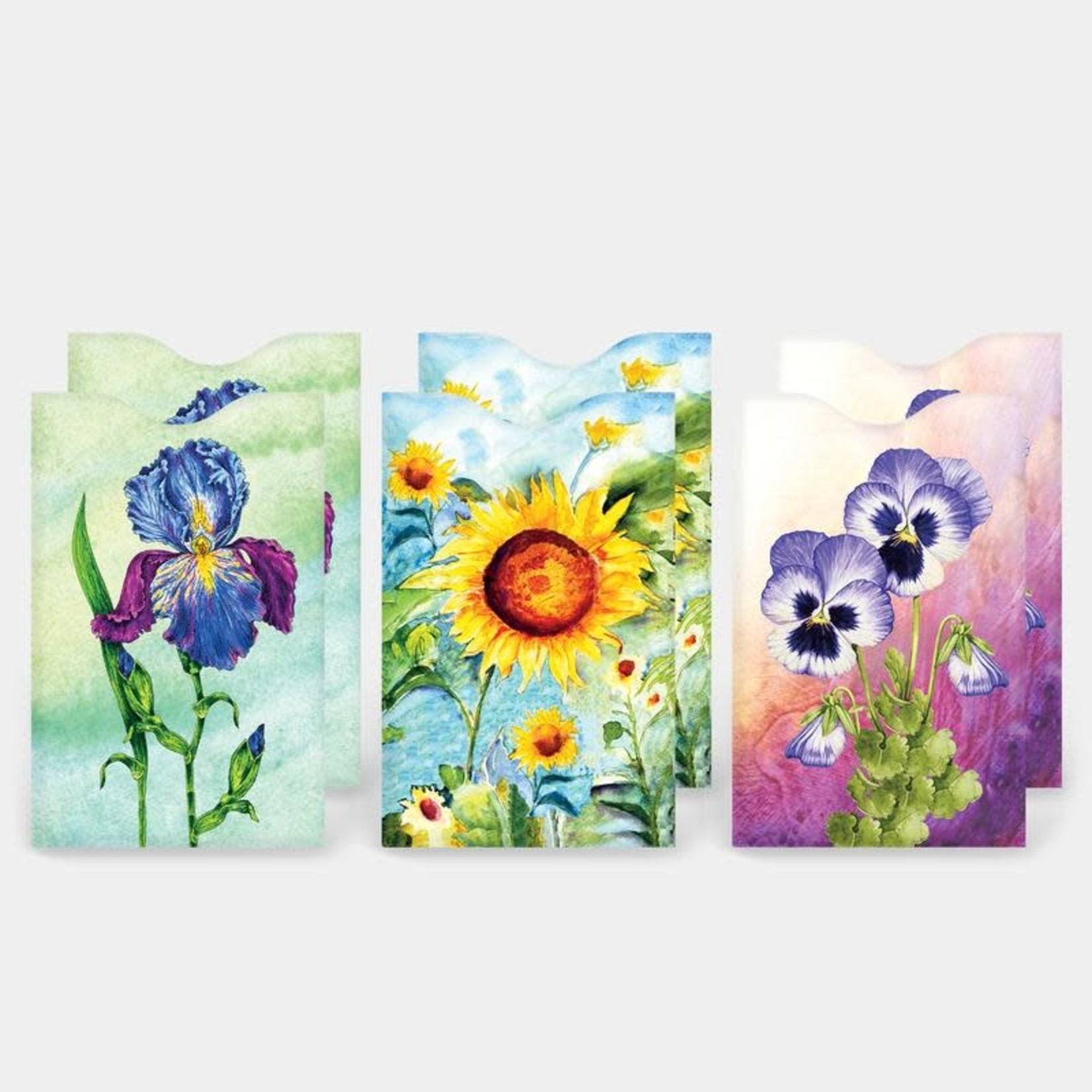 Monarque Set of 6 - Flowers Credit Card Sleeves