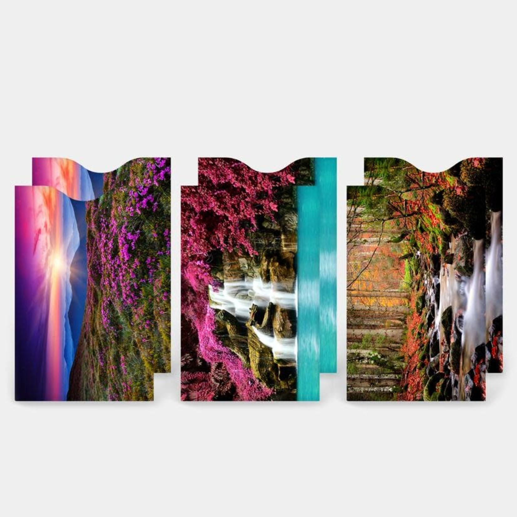 Monarque Set of 6 - Landscapes Credit Card Sleeves