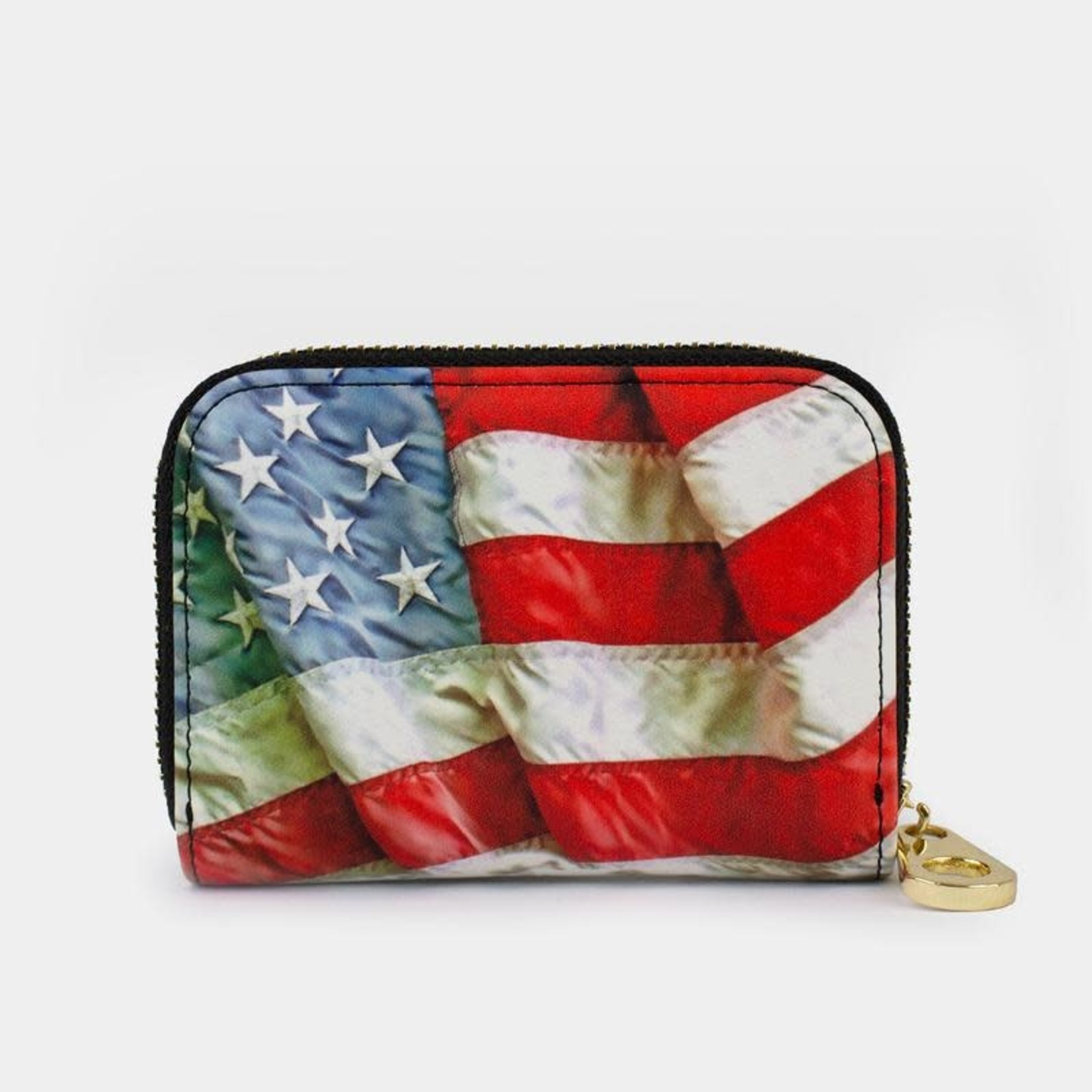 Monarque Zippered Wallet - American Flag
