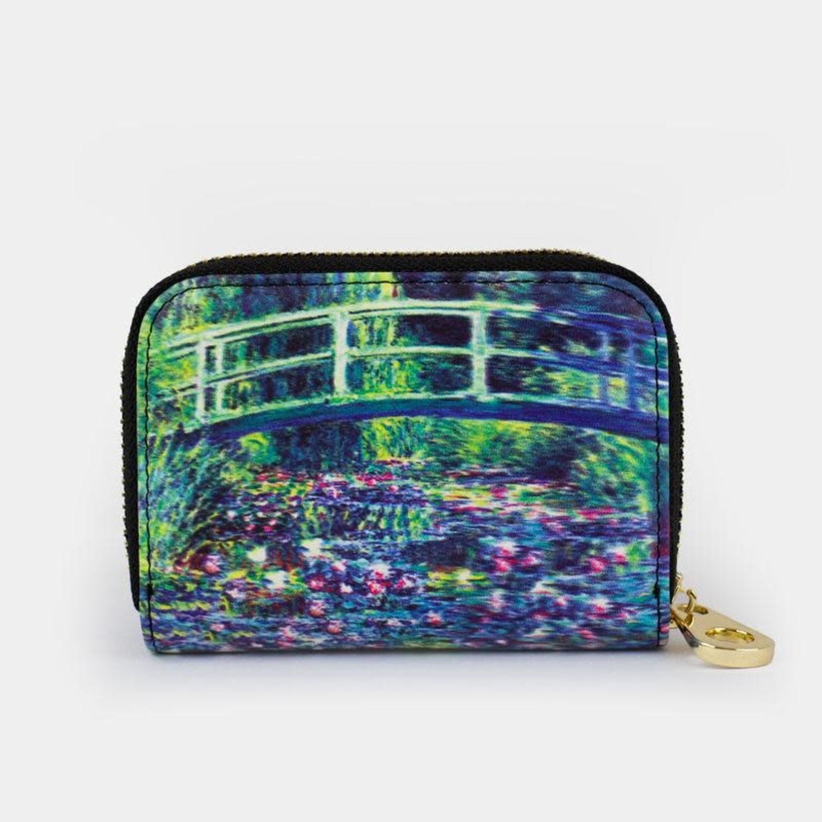 Monarque Zippered Wallet - Monet - Water Lily Pond & Japanese Bridge
