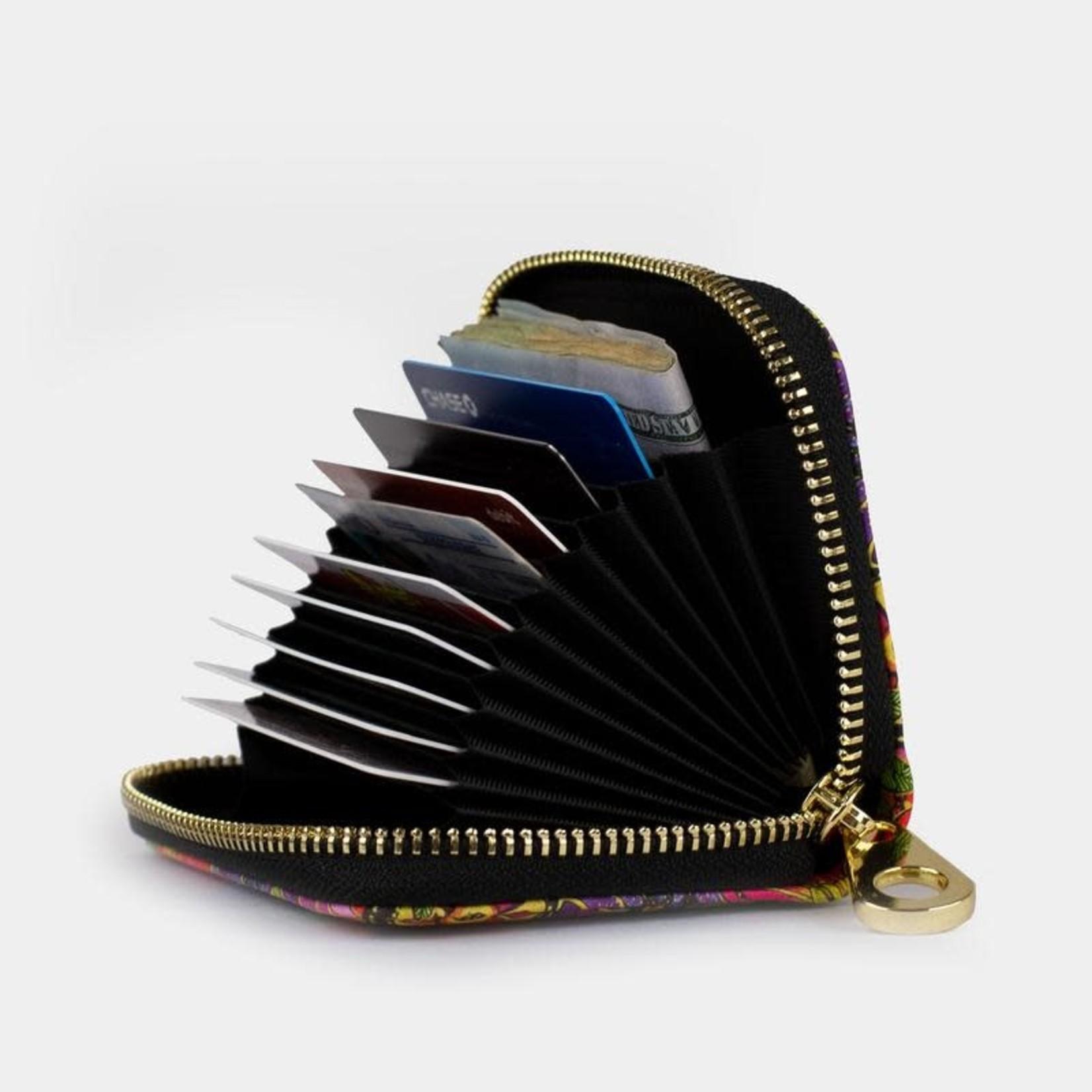 Monarque Zippered Wallet - Peonies