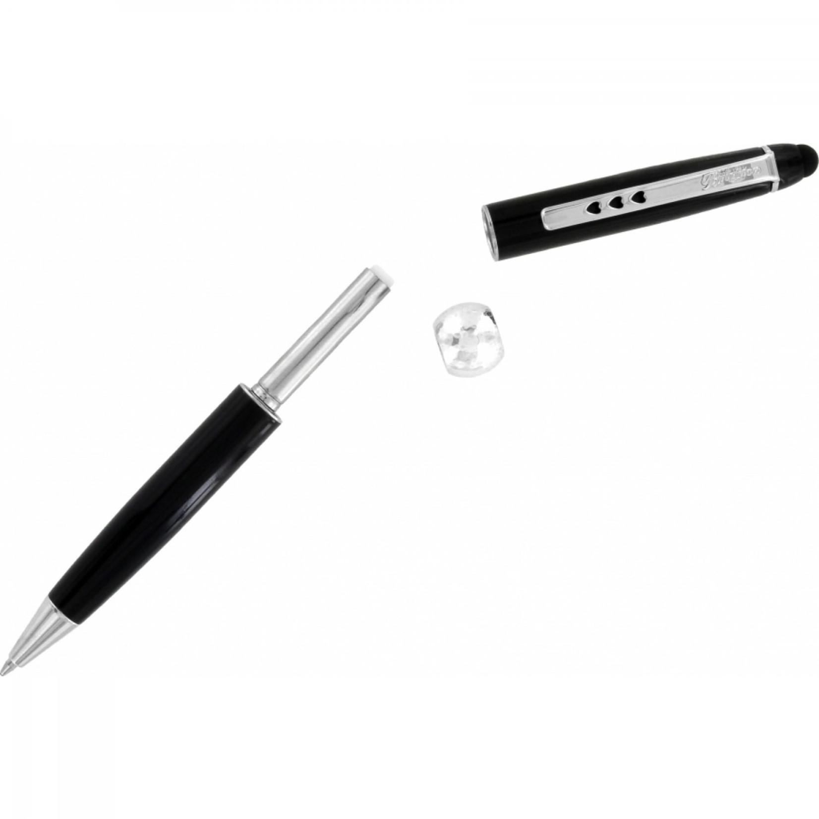 Brighton JC0360 Pen Pal Stylus Long Charm Pen - Black/Silver
